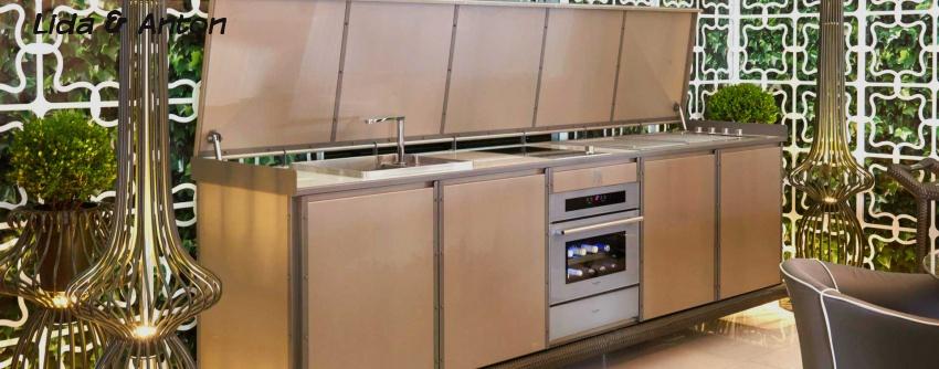 Роскошные кухни на открытом воздухе