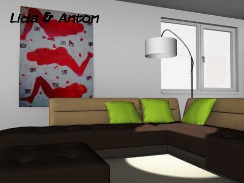 pCon.planner визуализация гостиной