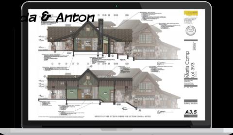 SketchUp загородный дом