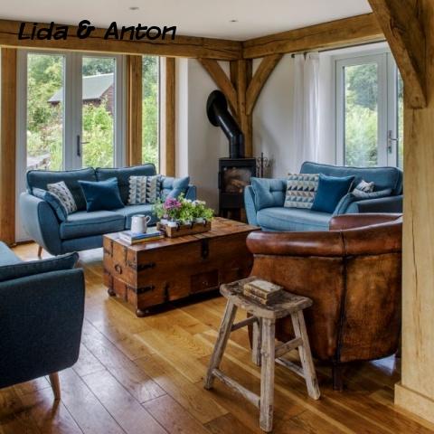 Деревянная гостиная
