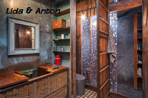 Дизайн ванной лофт