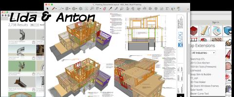 SketchUp полное проектирование дома