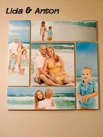 Разделите один снимок на несколько частей и произведите размещение фотографий таким образом, чтобы они создавали единую гармоничную картину.