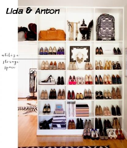 Храним обувь в гардеробной