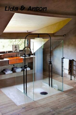 SPA ванная вашей мечты - стеклянная душевая с видом
