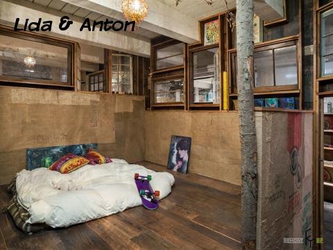 Спальня без кровати лофт