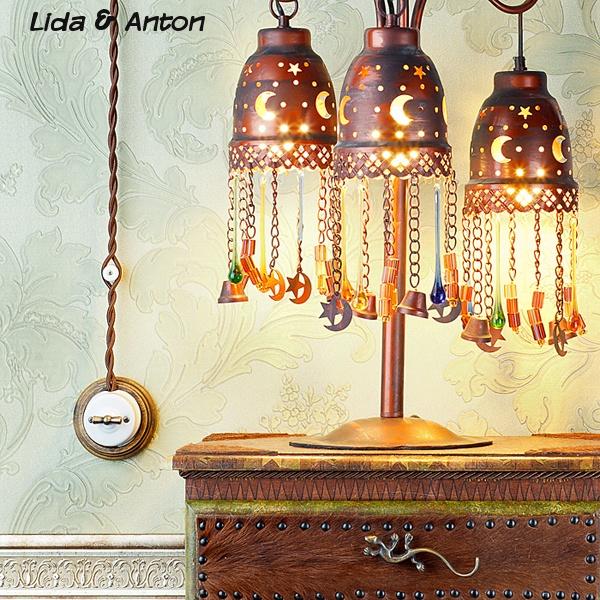 Ретро проводка и настольная лампа