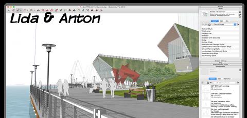 SketchUp проектирование городских улиц